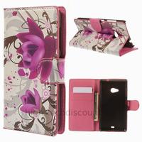 Housse etui coque pochette portefeuille PU cuir pour Microsoft Nokia Lumia 535 + film ecran - LOTUS