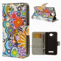 Housse etui coque pochette portefeuille PU cuir pour Alcatel One Touch Pop C7 7045D + film ecran - FLEURS C