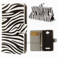 Housse etui coque pochette portefeuille PU cuir pour Alcatel One Touch Pop C7 7045D + film ecran - ZEBRE