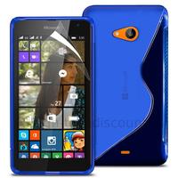 Housse etui coque pochette silicone gel fine pour Microsoft Nokia Lumia 535 + film ecran - BLEU