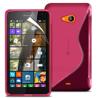 Housse etui coque pochette silicone gel fine pour Microsoft Nokia Lumia 535 + film ecran - ROSE
