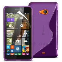 Housse etui coque pochette silicone gel fine pour Microsoft Nokia Lumia 535 + film ecran - MAUVE