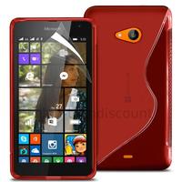 Housse etui coque pochette silicone gel fine pour Microsoft Nokia Lumia 535 + film ecran - ROUGE