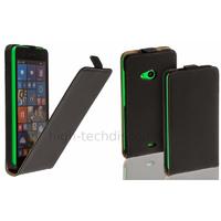 Housse etui coque pochette simili cuir fine pour Microsoft Lumia 535 + film ecran - NOIR