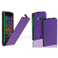 Housse etui coque pochette simili cuir fine pour Microsoft Lumia 535 + film ecran - MAUVE