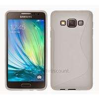 Housse etui coque pochette silicone gel fine pour Samsung Galaxy A5 + film ecran - BLANC