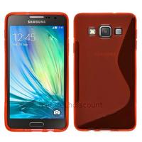 Housse etui coque pochette silicone gel fine pour Samsung Galaxy A5 + film ecran - ROUGE