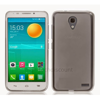 Housse etui coque silicone gel pour Alcatel One Touch Pop 2 (4.5) M5 5042 + film ecran - BLANC TRANSPARENT