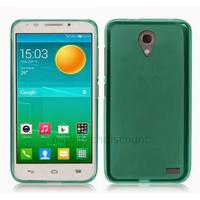 Housse etui coque silicone gel pour Alcatel One Touch Pop 2 (4.5) M5 5042 + film ecran - BLEU