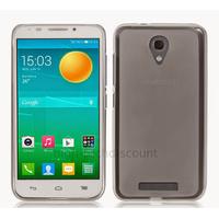 Housse etui coque silicone gel fine pour Alcatel One Touch Pop S7 7045 + film ecran - BLANC TRANSPARENT
