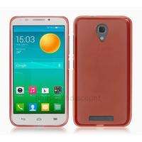 Housse etui coque silicone gel fine pour Alcatel One Touch Pop S7 7045 + film ecran - ROSE