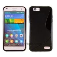Housse etui coque pochette silicone gel fine pour Huawei Ascend G7 + film ecran - NOIR