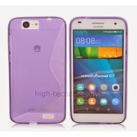 Housse etui coque pochette silicone gel fine pour Huawei Ascend G7 + film ecran - MAUVE