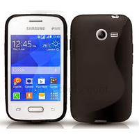 Housse etui coque silicone gel fine pour Samsung G110H Galaxy Pocket 2 + film ecran - NOIR