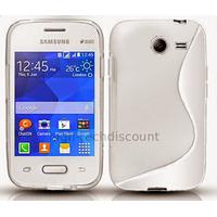 Housse etui coque silicone gel fine pour Samsung G110H Galaxy Pocket 2 + film ecran - BLANC