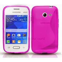 Housse etui coque silicone gel fine pour Samsung G110H Galaxy Pocket 2 + film ecran - ROSE