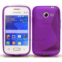 Housse etui coque silicone gel fine pour Samsung G110H Galaxy Pocket 2 + film ecran - MAUVE