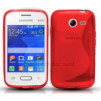 Housse etui coque silicone gel fine pour Samsung G110H Galaxy Pocket 2 + film ecran - ROUGE