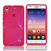 Housse etui coque pochette silicone gel fine pour Huawei Ascend G620S + film ecran - ROSE