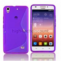 Housse etui coque pochette silicone gel fine pour Huawei Ascend G620S + film ecran - MAUVE