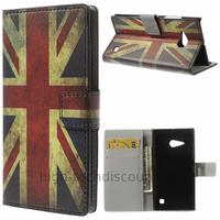 Housse etui coque portefeuille simili cuir pour Nokia Lumia 730 735 + film ecran - UK