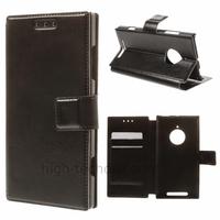 Housse etui coque portefeuille simili cuir pour Nokia Lumia 830 + film ecran - NOIR