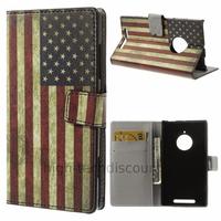 Housse etui coque portefeuille simili cuir pour Nokia Lumia 830 + film ecran - USA