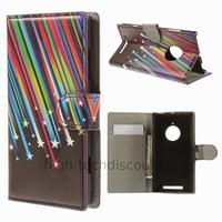 Housse etui coque portefeuille simili cuir pour Nokia Lumia 830 + film ecran - ETOILES