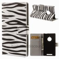 Housse etui coque portefeuille simili cuir pour Nokia Lumia 830 + film ecran - ZEBRE
