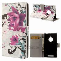 Housse etui coque portefeuille simili cuir pour Nokia Lumia 830 + film ecran - LOTUS