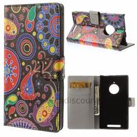 Housse etui coque portefeuille simili cuir pour Nokia Lumia 830 + film ecran - PAISLEY