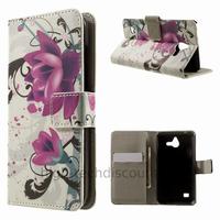 Housse etui coque portefeuille simili cuir pour Huawei Ascend Y550 + film ecran - LOTUS