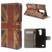 Housse etui coque portefeuille simili cuir pour LG L Bello + film ecran - UK