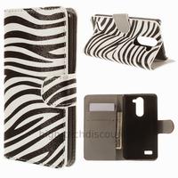 Housse etui coque portefeuille simili cuir pour LG L Bello + film ecran - ZEBRE