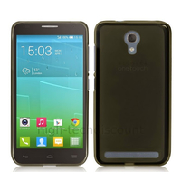 Housse etui coque silicone gel fine pour Alcatel One Touch Idol 2 Mini S 6036 + film ecran - NOIR