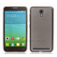 Housse etui coque silicone gel fine pour Alcatel One Touch Idol 2 Mini 6016 + film ecran - BLANC TRANSPARENT