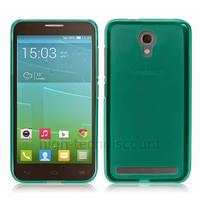 Housse etui coque silicone gel fine pour Alcatel One Touch Idol 2 Mini S 6036 + film ecran - BLEU