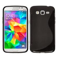 Housse etui coque pochette silicone gel fine pour Samsung G530H Galaxy Grand Prime + film ecran - NOIR