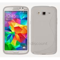 Housse etui coque pochette silicone gel fine pour Samsung G530H Galaxy Grand Prime + film ecran - BLANC
