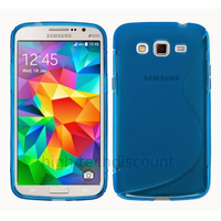 Housse etui coque pochette silicone gel fine pour Samsung G530H Galaxy Grand Prime + film ecran - BLEU