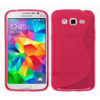 Housse etui coque pochette silicone gel fine pour Samsung G530H Galaxy Grand Prime + film ecran - ROSE