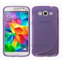 Housse etui coque pochette silicone gel fine pour Samsung G530H Galaxy Grand Prime + film ecran - MAUVE