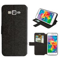 Housse etui coque pochette portefeuille pour Samsung G530H Galaxy Grand Prime + film ecran - NOIR