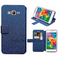 Housse etui coque pochette portefeuille pour Samsung G530H Galaxy Grand Prime + film ecran - BLEU