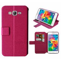 Housse etui coque pochette portefeuille pour Samsung G530H Galaxy Grand Prime + film ecran - ROSE