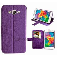 Housse etui coque pochette portefeuille pour Samsung G530H Galaxy Grand Prime + film ecran - MAUVE
