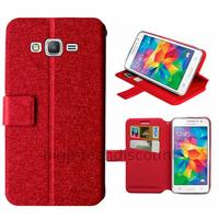 Housse etui coque pochette portefeuille pour Samsung G530H Galaxy Grand Prime + film ecran - ROUGE