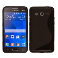 Housse etui coque pochette silicone gel fine pour Samsung G355H Galaxy Core 2 + film ecran - NOIR