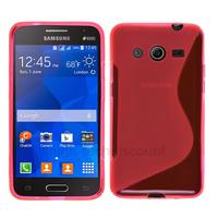 Housse etui coque pochette silicone gel fine pour Samsung G355H Galaxy Core 2 + film ecran - ROSE