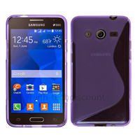 Housse etui coque pochette silicone gel fine pour Samsung G355H Galaxy Core 2 + film ecran - MAUVE
